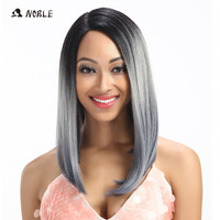 Noble Wavy Lace Front Wigs 20 Inch Long Silve Kanekalon Synthetic Wig Cosplay Wigs For Women Heat Resistant Free Shipping