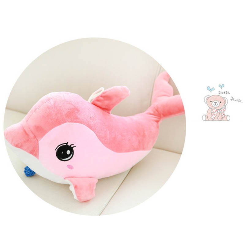 Cute big eyes dolphin plush toy pillow creative dolphin for valentine's day Children Dolls 1pcs 52 26cm creative novelty item funny women big mouth shape cushion pink red lip plush toy throw pillow for couch pregnancy