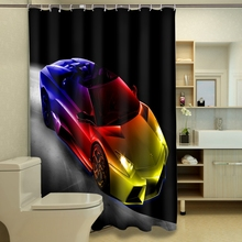 3D Car Digital Printing Modern Design Polyester Shower Curtain Waterproof Home Decor Bathroom Curtains Shower Curtain novelty 3d end of the world digital printing shower curtain for bathroom