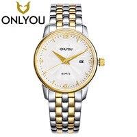 ONLYOU Luxury Lovers Watches Women Automatic Mechanical Watch Men 100M Waterproof Stainless Steel Strap Wristwatch Wholesale