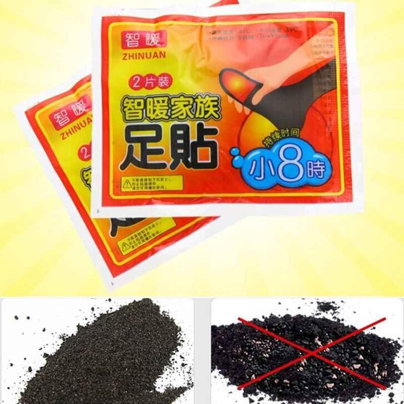 1 çift (2 adet) ayak ısıtıcı Sticker 8 saat kış ömürlü ısı pedi yapışkanlı yamalar macun ayak bakımı aracı