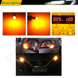 Image 5 - 2/4 Pcs Amber Orange Yellow 3030 2SMD W5W 194 T10 LED Bulb For Car Interior Map Dome Light 12V Auto Parking Position Turn Lamp
