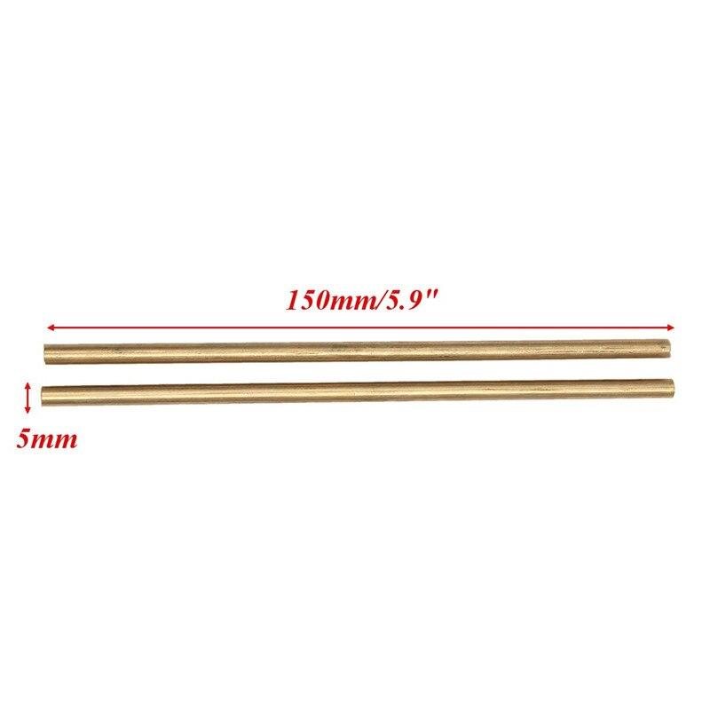 2 шт. 150 мм X 5 мм латунные стержни бар аппаратные твердые круглые стержни провода палочки золото для ремонта Сварка, пайка для пайки