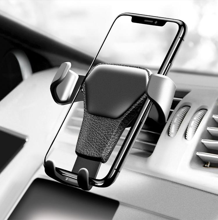 HTB1li4TrkUmBKNjSZFOq6yb2XXav - Car Phone Holder For Phone In Car Air Vent Mount Stand No Magnetic Mobile Phone Holder Universal Gravity Smartphone Cell Support