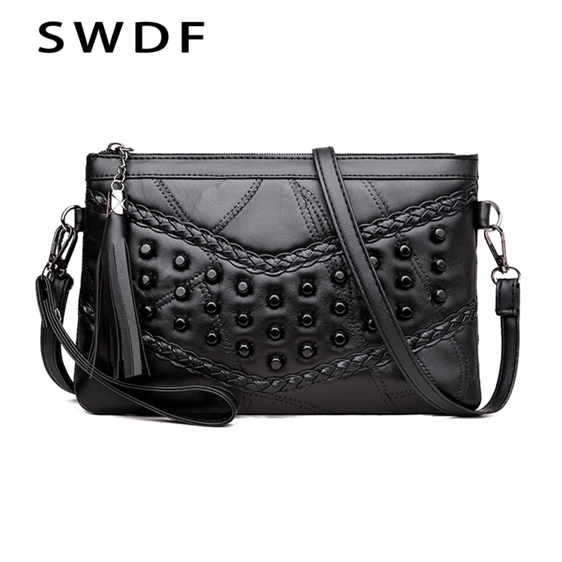 SWDF New Women Messenger Bags Crossbody Soft PU Leather Shoulder Bag High Quality Fashion Women Bags Handbags Purse Sac Clutch