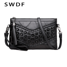 SWDF New Women Messenger Bags Crossbody Soft PU Leather Shoulder Bag High Quality Fashion Handbags Purse Sac Clutch