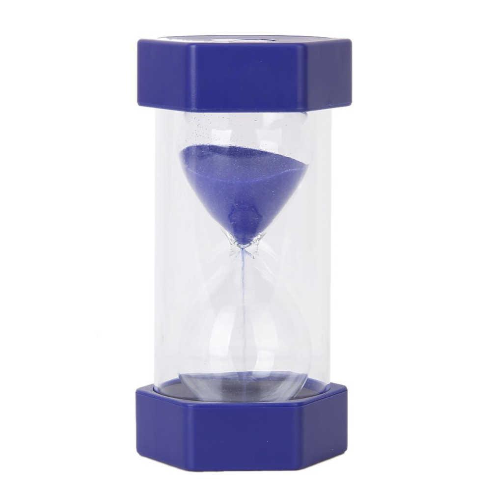 Magia de Plástico Hexagonal Tampa Estilo 5 Minutos Ampulheta Ampulheta Areia Relógio Temporizador (Azul)