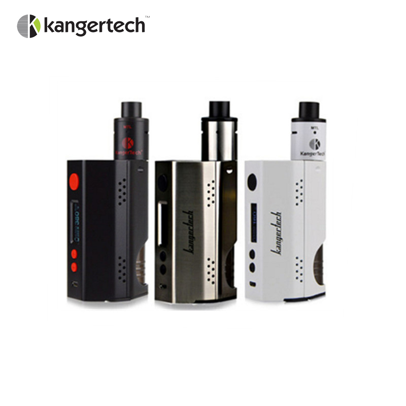 Original E Cigarette Kangertech Dripbox 160w Starter Kit with 7ml Capacity DIY Subdrip RBA Atomizer Vaporizer and TC 160 Dripmod fruit mango flavor e liquid for e cigarette by hangsen