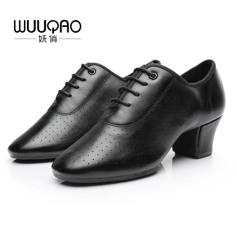 2019 Women's Leather Latin Dance Shoes Ballroom Dancing Shoes Soft Sole Sailor Dance Shoes Adult Practice Dance Shoes Of Cloth