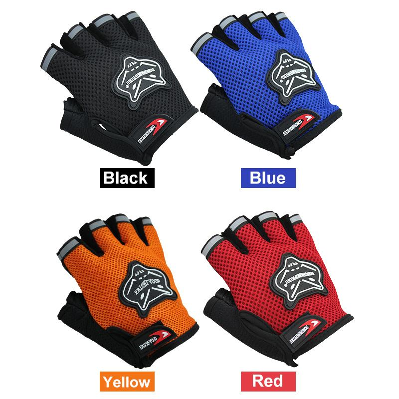 Outdoor Riding Bicycle Anti-skid Half-finger Gloves Riding Gloves Supplies Riding Gear Half-finger Glove Adult Model sk 02 anti slip half finger bicycle riding cycling gloves green black white size xl