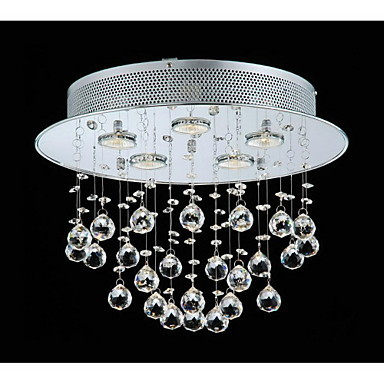Elegant Stainless Steel Modern LED Crystal Pendant Light Lamp With 5 Lights Lustre De Cristal Free Shipping