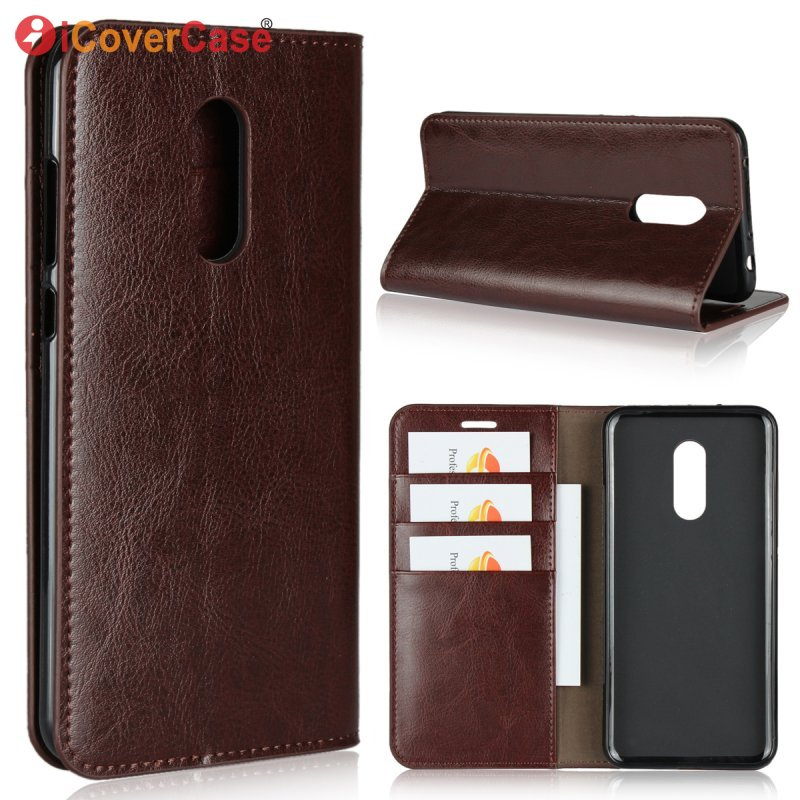 Luxury Case For Xiaomi Redmi 5 Plus Genuine Leather Business Wallet Cover For Redmi 5 Plus Global Flip Etui Coque Hoesje Fundas