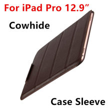 Case Cowhide Sleeve For iPad Pro 12.9 Tablet PC Protective Smart cover Protector Genuine Leather For Apple iPad 12.9 inch Cases