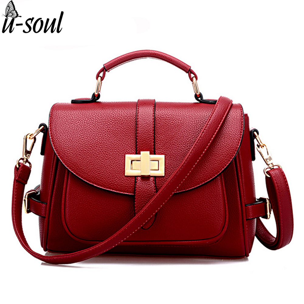 Women Bag Casual Women Leather Handbags Female Medium Women Shoulder Bags Famous