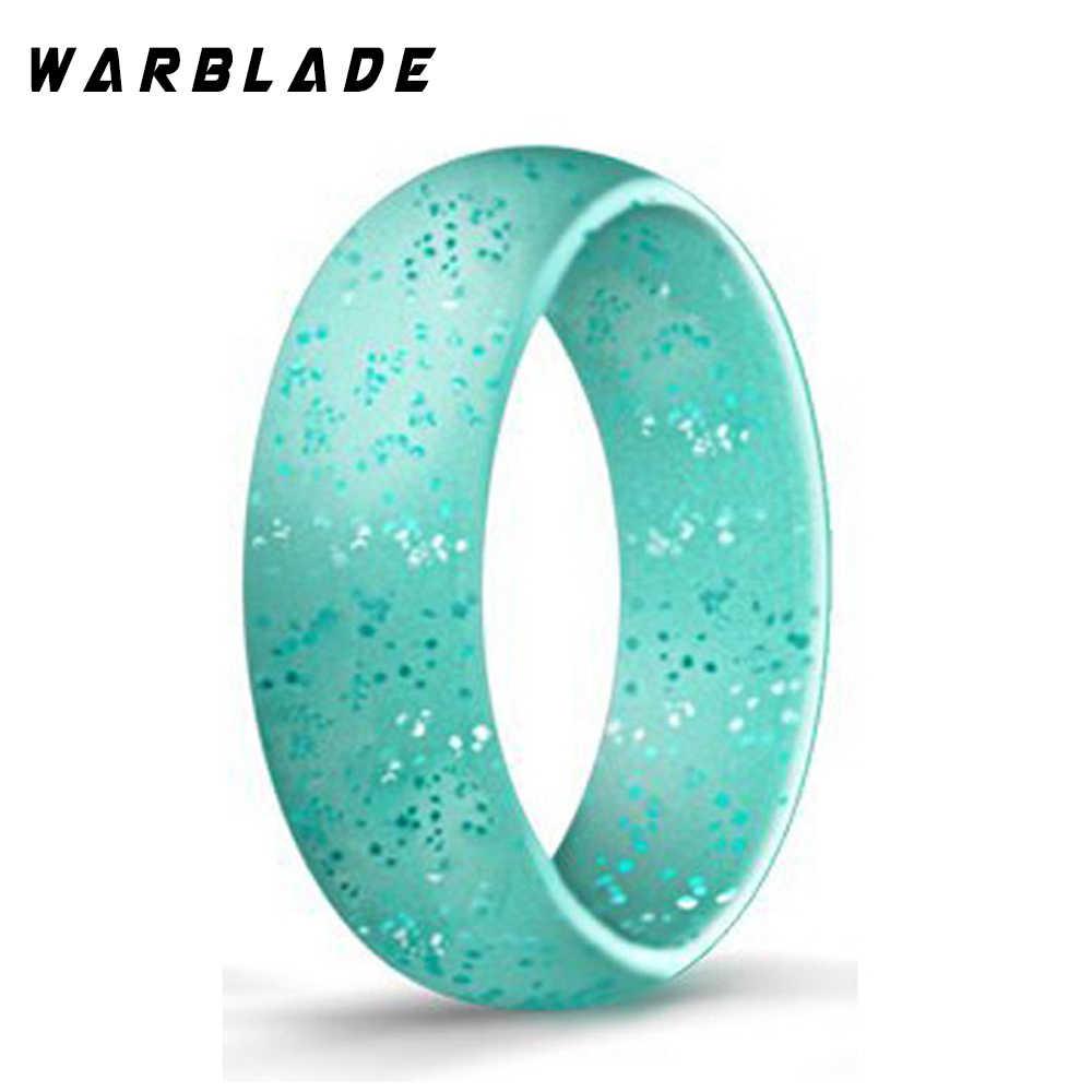เกรดอาหาร FDA แหวนซิลิโคน 4-10 ขนาด Hypoallergenic Crossfit ยืดหยุ่นกีฬาซิลิโคนแหวนสำหรับงานแต่งงานของขวัญ WBL