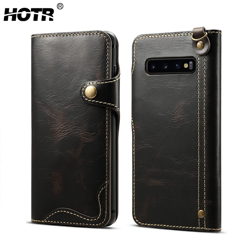 S10 Real Leather Case for Samsung Galaxy S10 Plus Genuine Leather Full Cover for Samsung Galaxy S10e S8 S9 Plus Note 9 Note 8