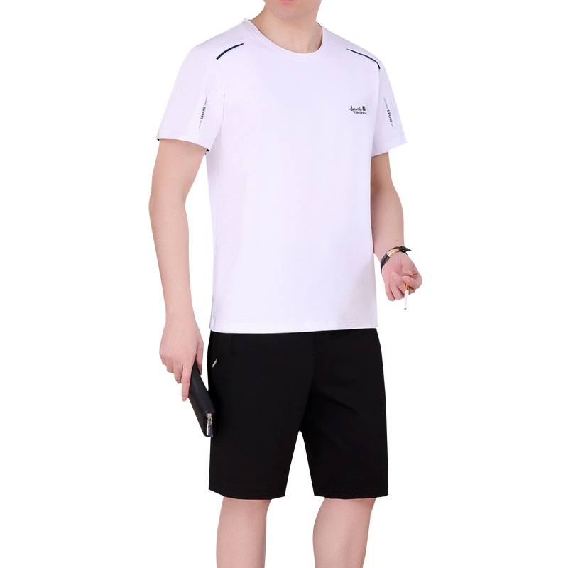 2019 Summer Running Simple Sportswear shirt and Short for man 2 pcs