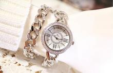 2017 New Style Women Wristwatches Lady Dress Watch Stainless Steel Band Female Wristwatch Female Bracelet Watches Clocks Hours
