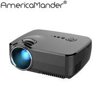 "Neue 1200 lumen HD 150 ""Multimedia LED Mini Home Theater LCD Spiel-projektor AV/VGA/SD/USB/HDMI Freies Verschiffen für Russland Brasilien"