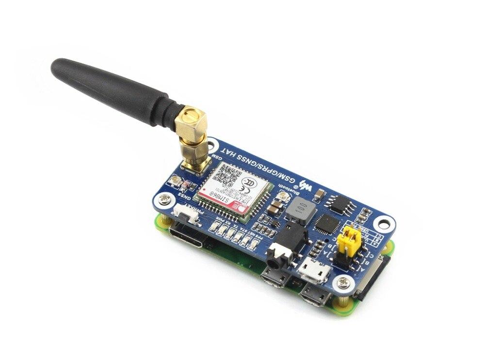 Faible puissance SIM868 GSM GPRS GNSS Bluetooth 3.0 chapeau pour framboise Pi 2B/3B/zéro/zéro W soutien SMS appel téléphonique CP2102 UART débogage - 6