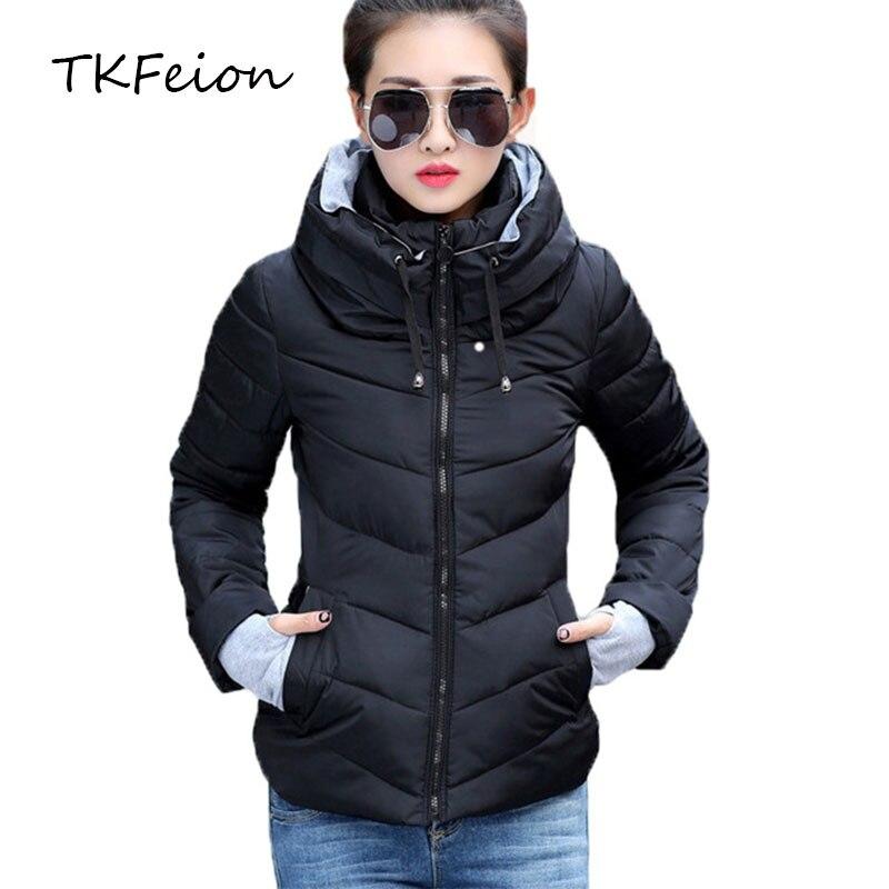 Women Autumn Winter Jacket Warm Parkas Plus 2018 New Ladies Thicken Short Outerwear Stand Collar Cotton Padded Female Slim Coats