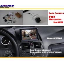 Conjuntos de Cámara De Visión Posterior del coche Para Mercedes Benz Clase C W204 2007 ~ 2014/Copia de seguridad de Cámara de Marcha Atrás/RCA y Pantalla Original
