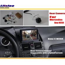 Liislee заднего вида Камера Наборы для ухода за кожей для Mercedes Benz C Class W204 2007 ~ 2014/Back Up Обратный Камера /RCA и оригинальный Экран