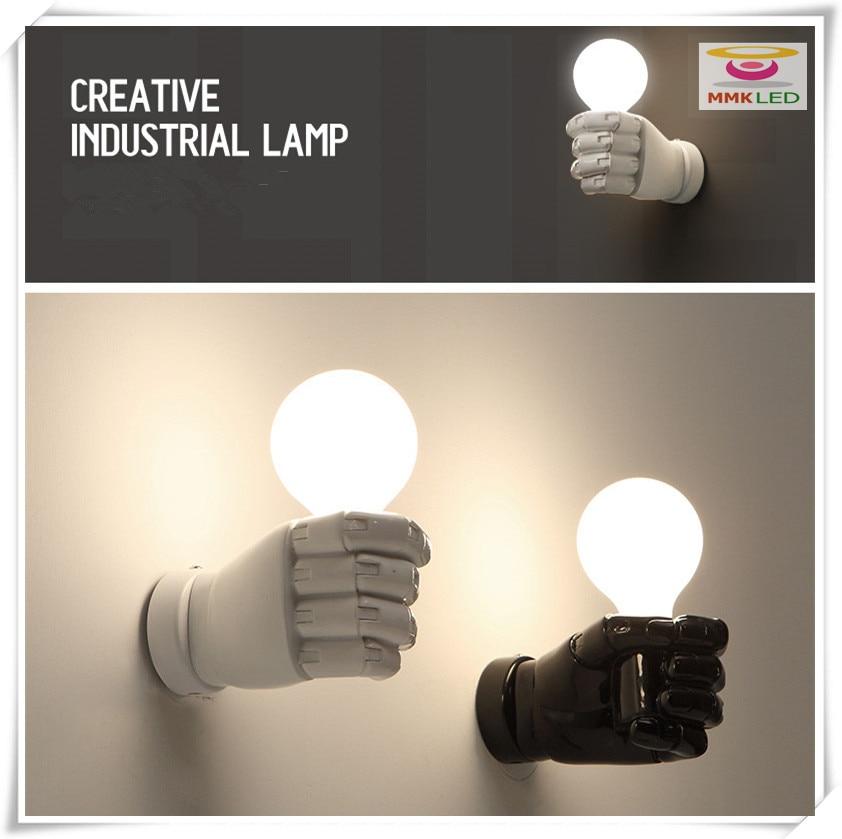 New fist hand aisle wall lamp bedside lamp creative modern resin light E27 AC110 240V