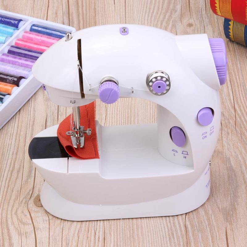 Mini Portable Handheld Sewing Machines Stitch Sew Needlework Cordless Clothes Fabrics Electrec Sewing Machine Stitch Set