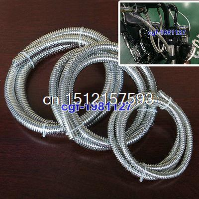 Set Of Chrome PVC Motorcycle Cable Cover For Honda Shadow Steed Magna Rebel