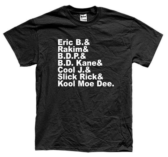 OLD SCHOOL RAP Hip Hop Eric B bdp rakim manga corta Camiseta muchos colores unisex más tamaño y Colors-A887