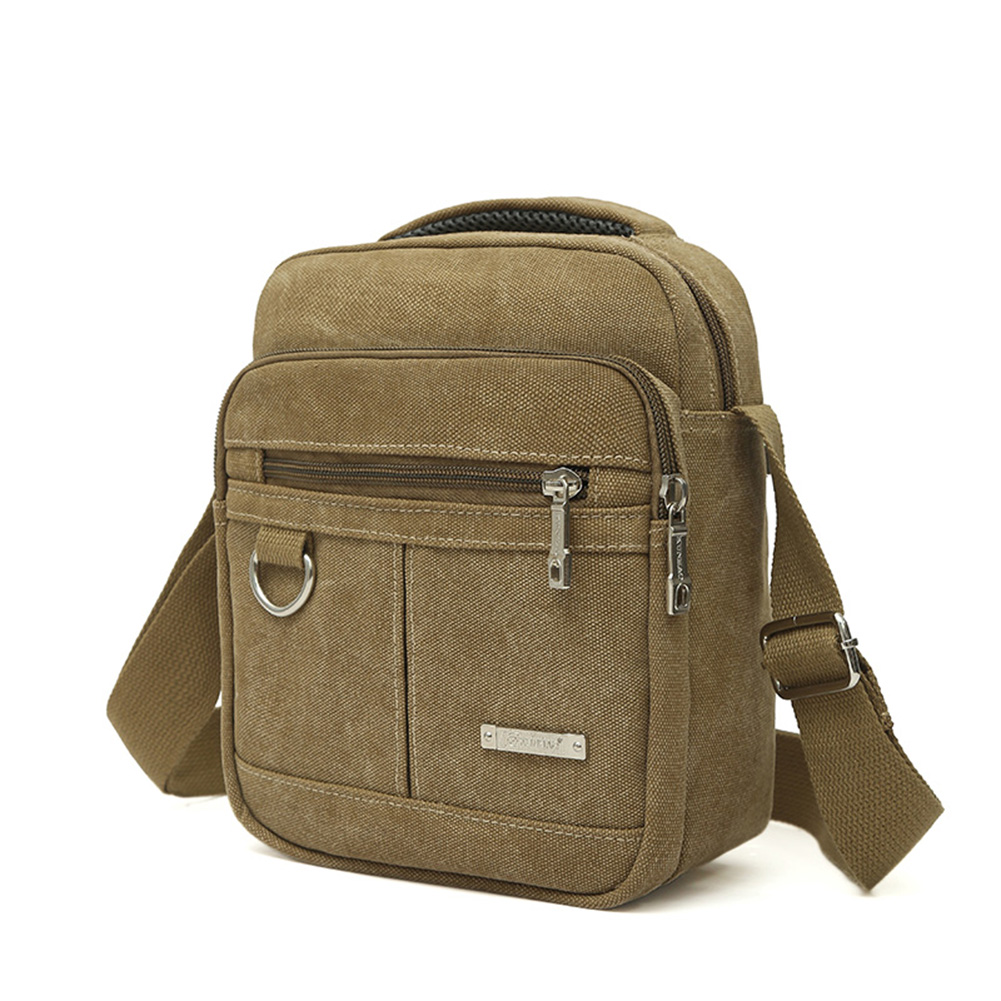Khaki Unknown Waterproof Nylon Sling Chest Bag Military Travel Riding Cross Body Messenger Casual Shoulder Packet Pouch