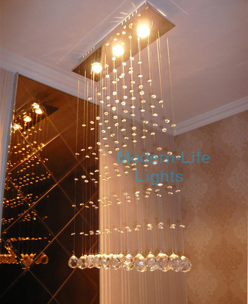 Free shipping modern rain drop crystal lamp crystal ceiling free shipping modern rain drop crystal lamp crystal ceiling lighting crystal led light living room dinning mozeypictures Gallery