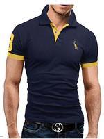 Summer Guitar Printed Stand Collar Polo Shirt Men Short Sleeve Casual Men Shirts Polo Homme Cotton Mens Polos M3600