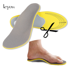 Quality Foot Arch Insoles Comfortable Orthotics Inserts for Shoes Pad Breathable Sport Arch Support Orthotic Insoles Flat Feet orthotic arch support sport shoes insoles cushion pain relief foot shoe pad yellow gray color pu leather new high quality s m l