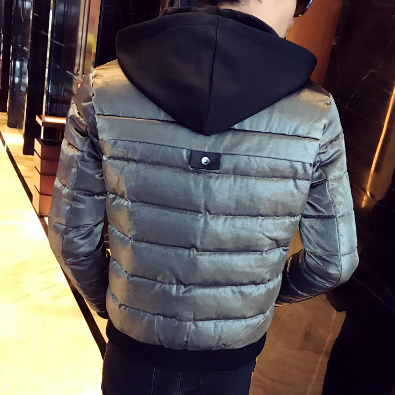 a5cdc5eecdc Royal Blue Winter Jackets Mens Fashion Parka Mens Hooded Jackets Man Winter  Clothes Warm Casacos De Inverno Silver Bomber Jacket-in Parkas from Men s  ...