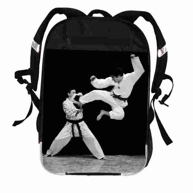 Taekwondo Backpack Anime Martial Judo Karate Aikido Jeet Kune Do For Women  Men Boys Girls Teenager School Bags Mochila Bolsa a5ea4a728d575