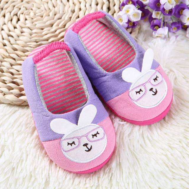 a1c225fdac6 placeholder Brand Little Kids Slippers for Girls Shoes Toddler Baby Cute  Cartoon Bunny Indoor Rubble Sole Home