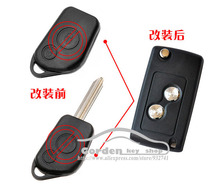 2 Buttons Modified Folding Flip Remote Key Shell For Citroen Old Elysee Picasso Car Key Blanks Case