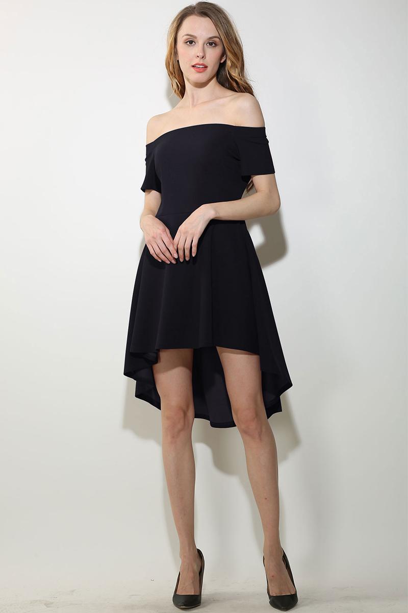 46a85191eb ShejoinSheenjoy Summer Dress 2017 Women Sexy Slash Neck Off Shoulder High  Low Party Dresses Casual Elegant