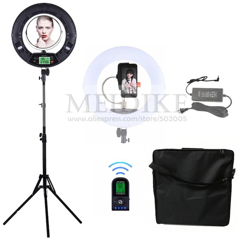 Yidoblo Zwart FE-480II Koud en warm licht aanpassen Ringlicht 480 LED - Camera en foto