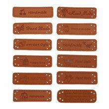 12/10 pièces étiquettes à la main pour vêtements étiquettes en cuir PU étiquette sur vêtements chapeau chaussures sac bricolage vêtements accessoires de couture