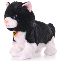 Soft Electronic Pets Sound Control Robot Cats Stand Walk Electric Pets Cute Interactive Cat Electronic Plush