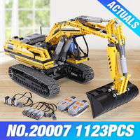 2016 LEPIN 1123pcs 20007 Technic Series Excavator Model Building Kit Minifigure Blocks Brick Compatible Toy Christmas