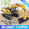 2016 LEPIN 1123pcs 20007 Technic Series Excavator Model Building Kit Minifigure Blocks Brick Compatible Toy Christmas