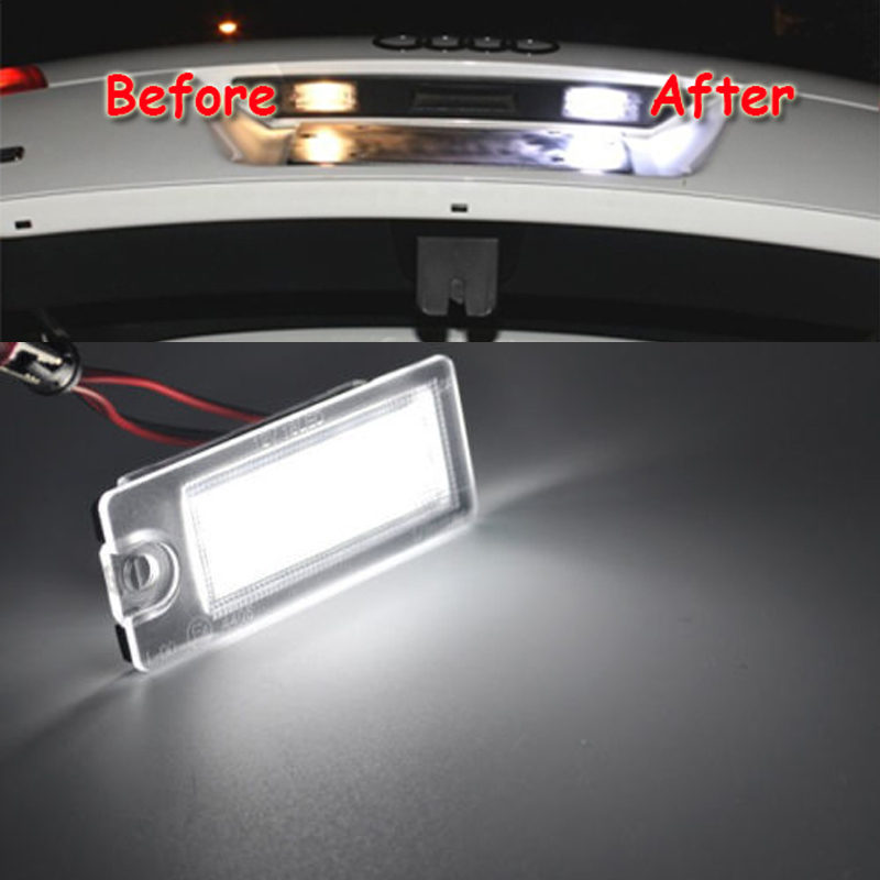 HOPSTYLING 2Pcs Error Free LED Number License Plate lights for Volvo S80 V70 XC70 S60 XC90 Xenon White Car-styling Replacement free shipping car led license number plate lights error free lamps white 6000k 2pcs suit mini r50 r52 r53