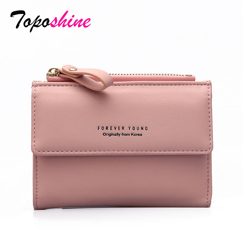 Wallet Women Short Paragraph Korean New Fashion Personality Zipper Buckle Card Package Multi-Function Wallet Tide