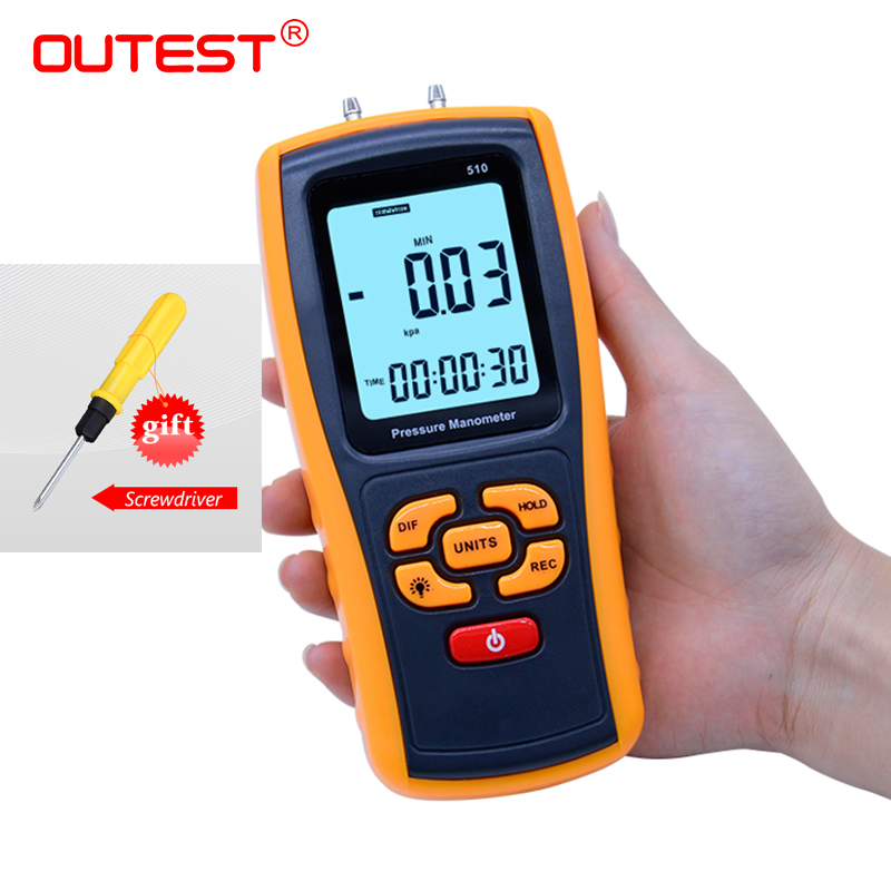 High-precision Digital Pressure Gauge Micro-Pressure Gauge Differential Pressure Meter Air Pressure Gauge GM510/GM511/GM520