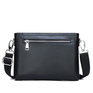 Image 4 - FEIDIKABOLO sac à bandoulière en cuir véritable pour hommes, petits sacs à bandoulière, sacs à main, pochette