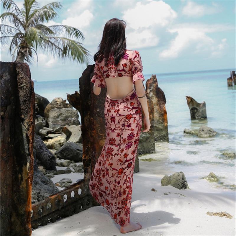 A Stampato Sexy Fiori Boemia Della Donne Scollo Backless Le Sottile Dalla Primavera Vestito Vacanze V Uniquewho Estate Profondo Ragazze Spiaggia Per ApZqZwP